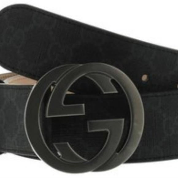 7eb5546d6 Gucci Accessories   Men Black Leather Belt 3842 New In Box   Poshmark